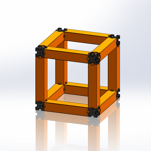 An example of a 7x7x7 UberBlox-Units (or ubloks) structure